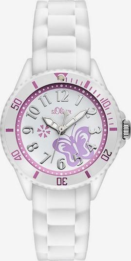 s.Oliver Junior Armbanduhr in helllila / weiß, Produktansicht