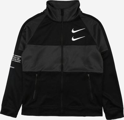 Nike Sportswear Sweatjacke 'SWOOSH' in anthrazit / schwarz / weiß, Produktansicht