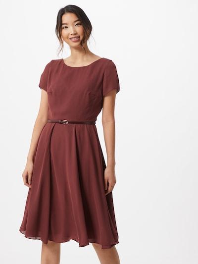 SWING Koktejlové šaty - vínově červená: Pohled zepředu