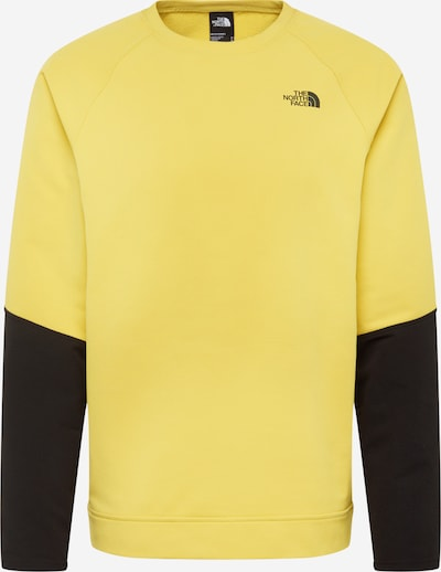 THE NORTH FACE Sport-Sweatshirt in gelb / schwarz, Produktansicht