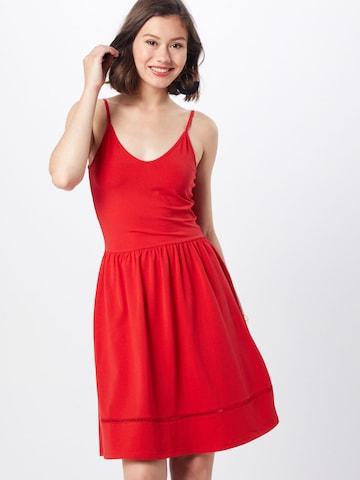 ONLY Suvekleit 'ONLADDY STRAP DRESS JRS', värv punane