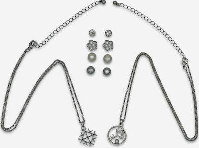 J. Jayz Schmuckset 'Blume, Schlüssel, trendstark' (Set, 10 tlg.) in grau / silber, Produktansicht