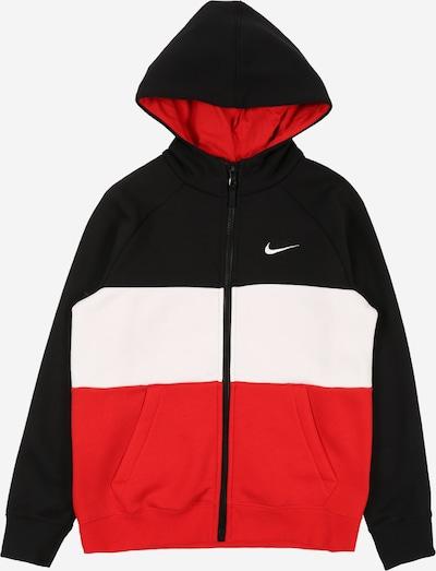 Nike Sportswear Jacke in rot / schwarz / weiß, Produktansicht