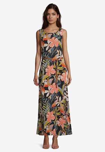 Cartoon Blumenkleid ohne Arm in mischfarben, Modelansicht