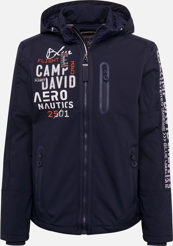 CAMP DAVID Softshelljacke in navy, Produktansicht
