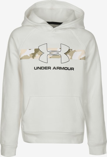 UNDER ARMOUR Sportief sweatshirt 'Rival' in de kleur Beige / Crème, Productweergave