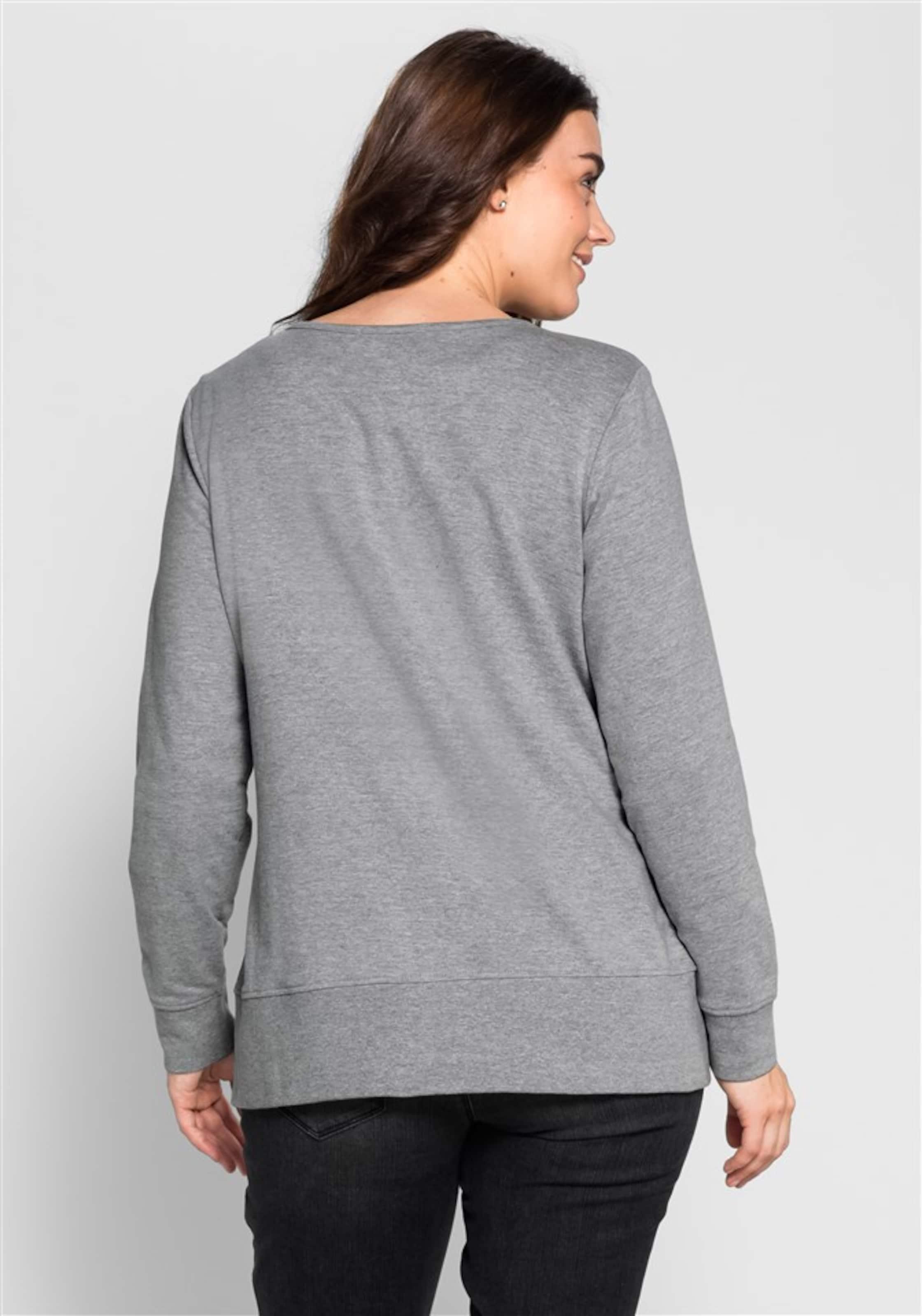 In Sweatshirt In Grau In Sheego In Sweatshirt Sweatshirt Sheego Grau Sheego Sheego Sweatshirt Grau w8OymNn0v