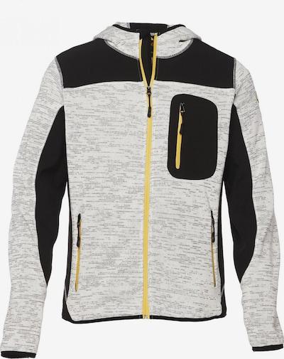 BRDS Softshelljacke in grau / schwarz: Frontalansicht