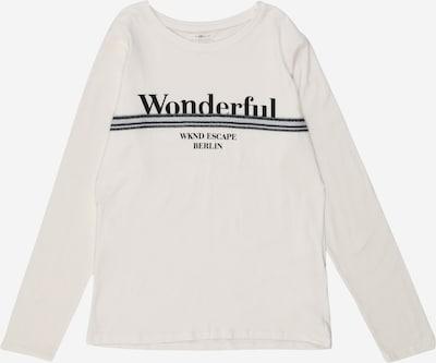 NAME IT Shirt 'OLEFINE ' in schwarz / weiß, Produktansicht