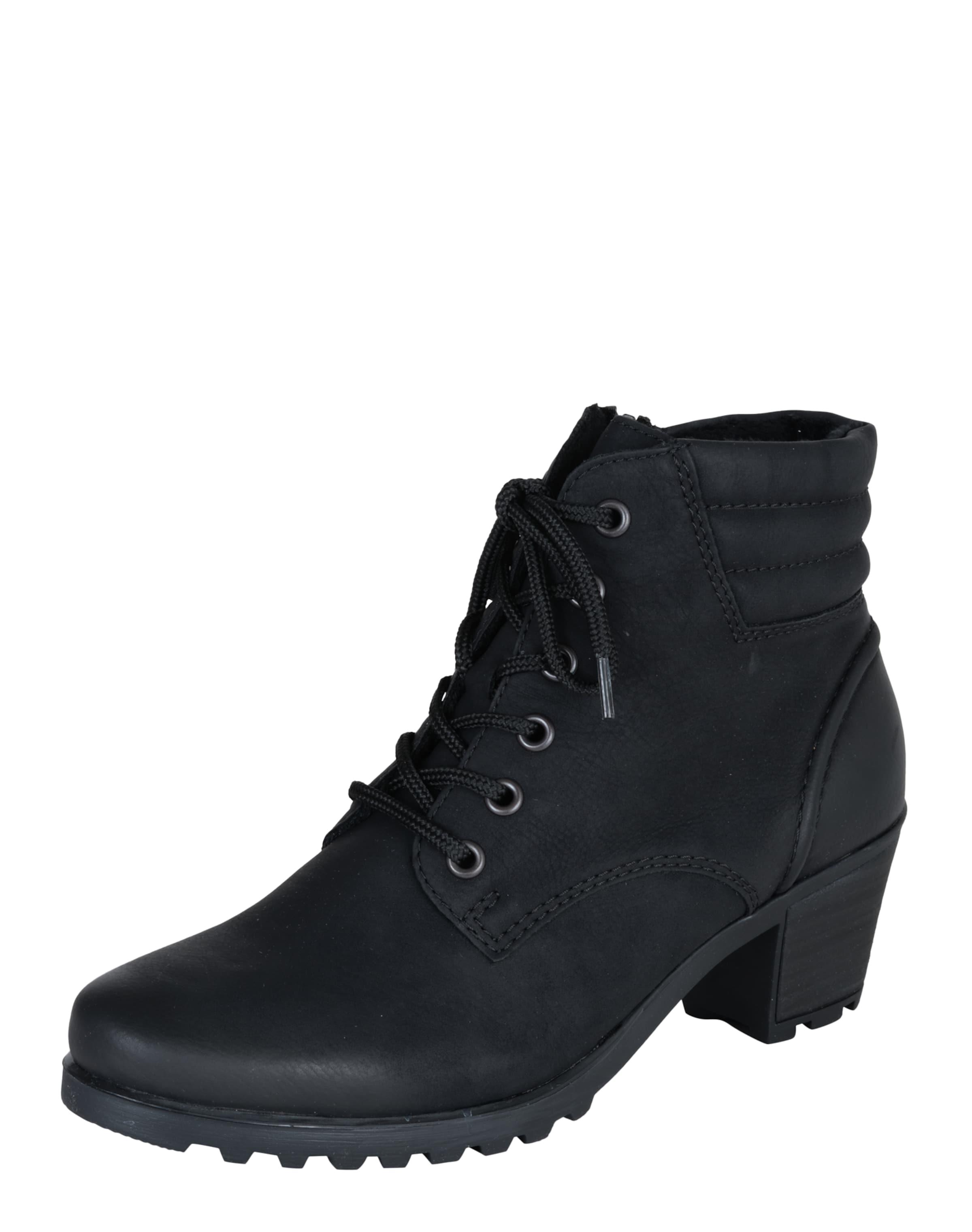 RIEKER Schnürstiefelette mit Steppungen Verschleißfeste billige Schuhe
