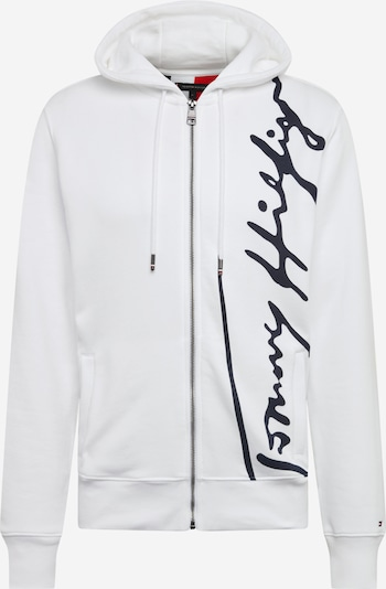 TOMMY HILFIGER Svīteris 'SIGNATURE HOODED ZIP THROUGH' pieejami balts, Preces skats