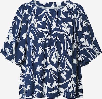 VILA Shirt 'RUMINA' in navy / offwhite, Produktansicht