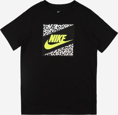 Nike Sportswear Shirt 'FUTURA' in neongelb / schwarz / weiß, Produktansicht