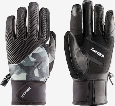 Zanier Handschuhe in mischfarben / schwarz, Produktansicht