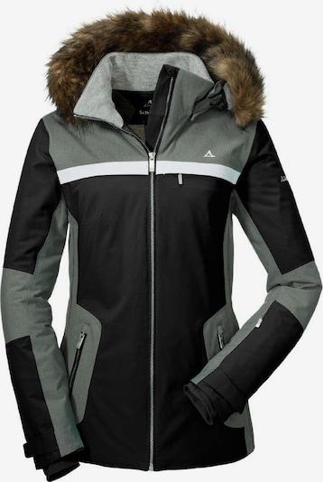 Schöffel Jacke 'Strasbourg2' in dunkelgrau / schwarz / weiß, Produktansicht