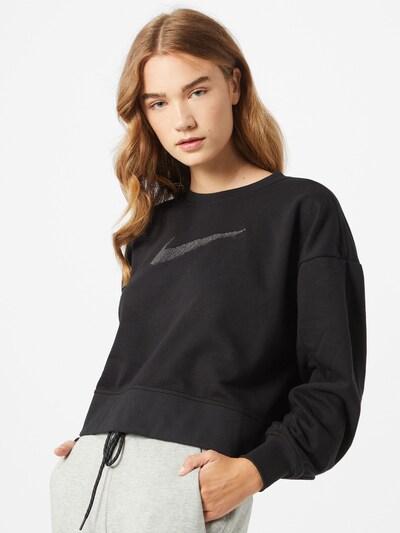 NIKE Sweatshirt in grau / schwarz: Frontalansicht