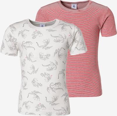 PETIT BATEAU Unterhemden in rosa / schwarz / weiß, Produktansicht
