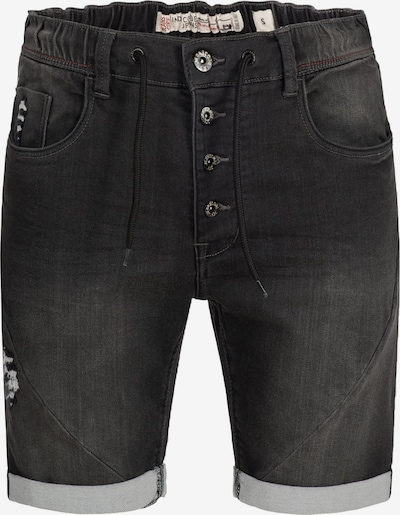 INDICODE JEANS Shorts 'Piano' in schwarz: Frontalansicht