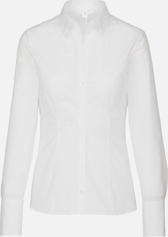 SEIDENSTICKER City-Blause 'Schwarze Rosa' in weiß  Mode neue Kleidung