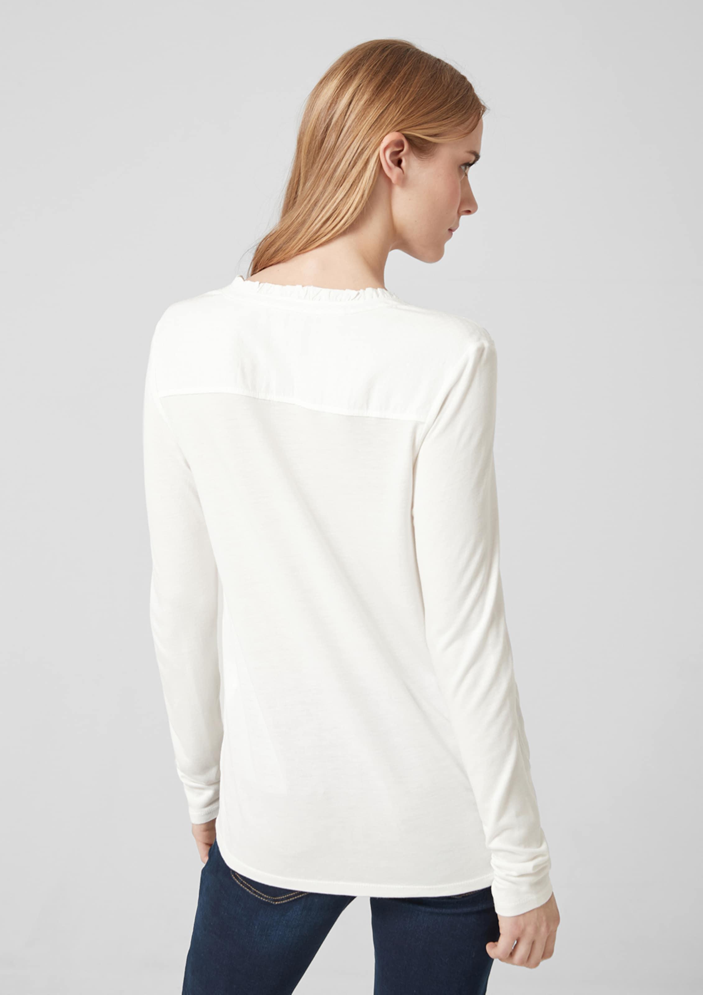S S Blusenshirt S In Weiß oliver Blusenshirt oliver In Weiß bg6f7yvIY