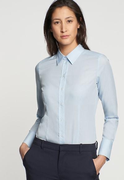 Bluză 'Schwarze Rose' SEIDENSTICKER pe albastru deschis, Vizualizare model