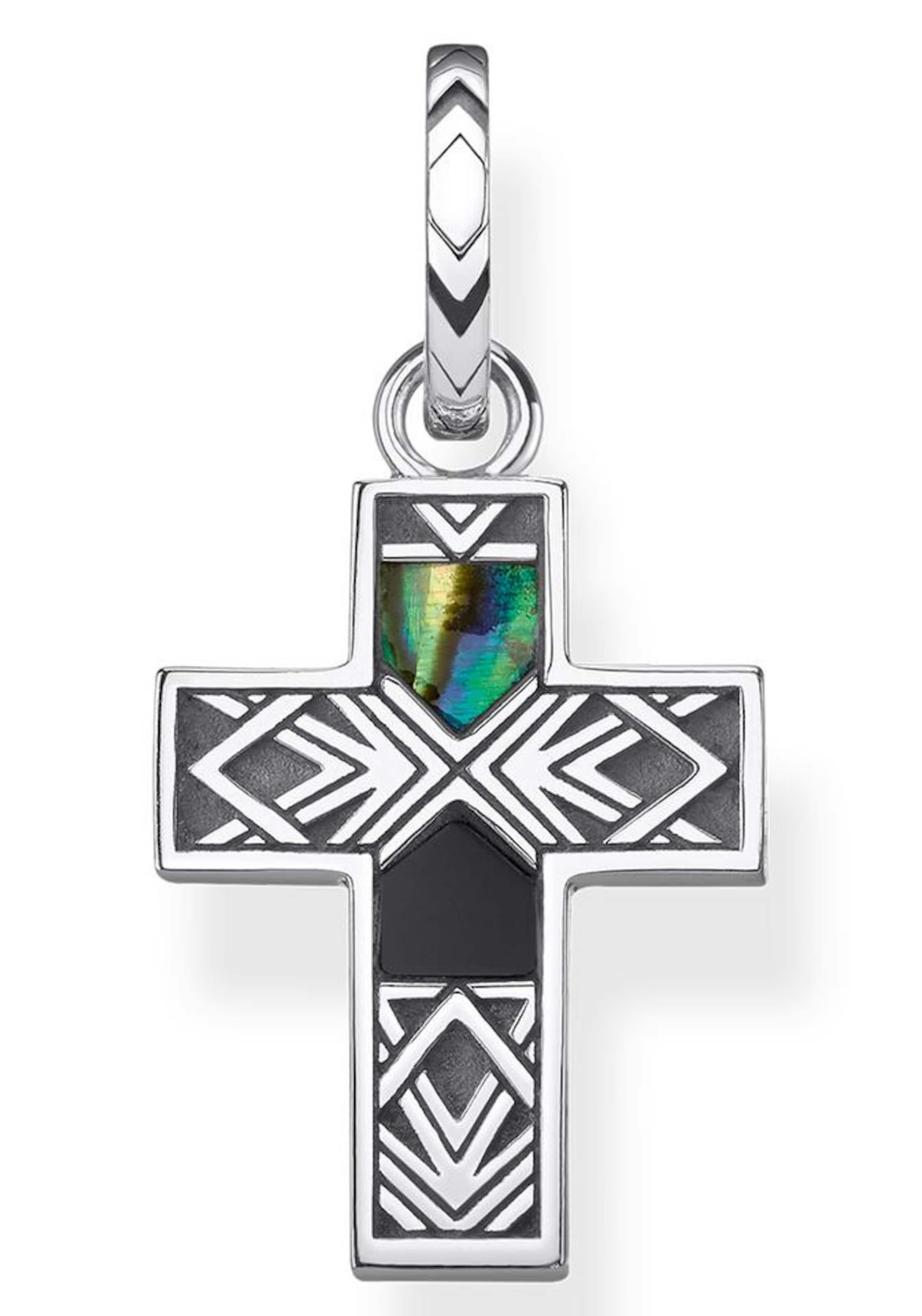 Thomas MischfarbenSchwarz Silber Kreuzanhänger In Sabo jqS3ARc54L