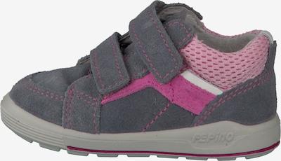 Pepino Schuhe 'Leon' in dunkelgrau / pink / rosa / weiß: Seitenansicht