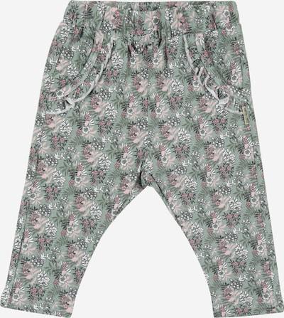 Hust & Claire Pantalon 'Taia' en jade / rose / blanc, Vue avec produit