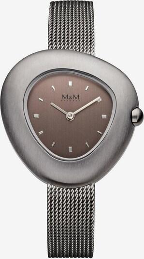 M&M GERMANY Quarzuhr 'Pebbles' in kastanienbraun / grau, Produktansicht