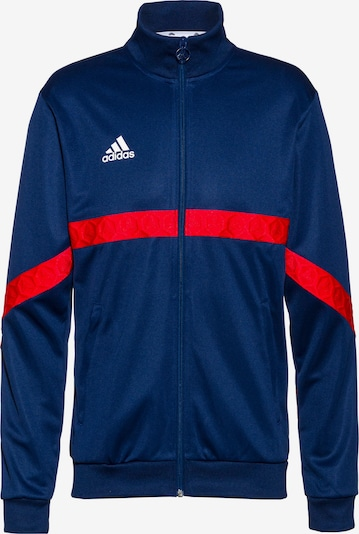 ADIDAS PERFORMANCE Trainingsjacke in navy / hellrot / weiß, Produktansicht