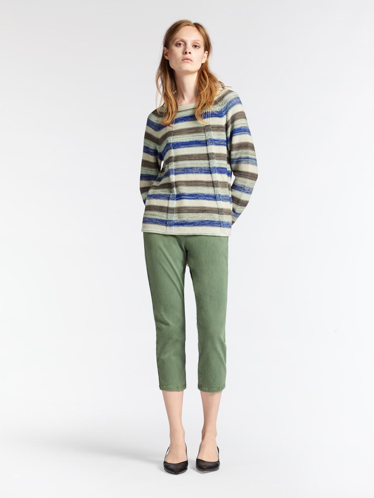 Beliebt Frauen Bekleidung Sandwich Jeans in grün Zum Verkauf