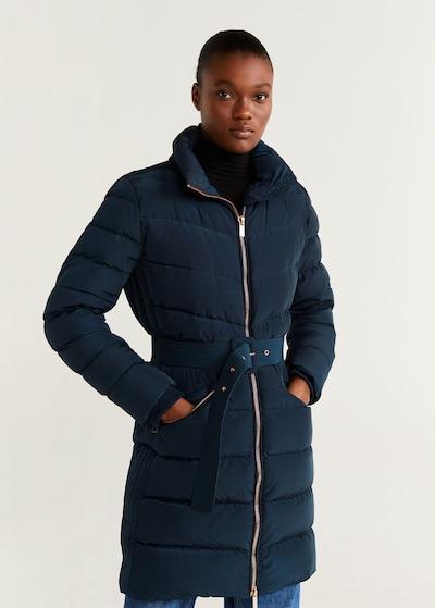 MANGO Płaszcz zimowy 'parislo5' w kolorze granatowym, Podgląd na modelu(-ce)