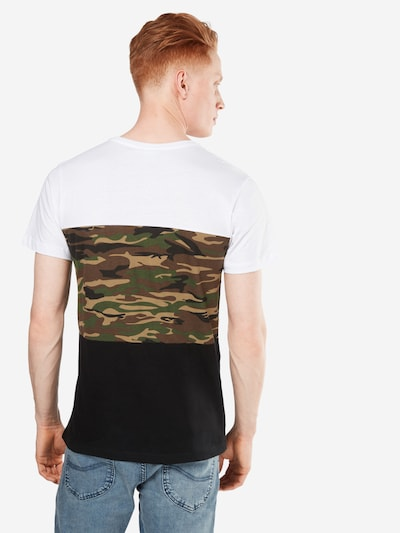Urban Classics T-Shirt in khaki / schwarz / weiß: Rückansicht