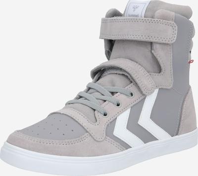 Hummel Baskets 'Slimmer' en gris / blanc, Vue avec produit