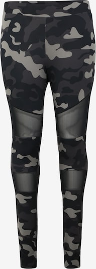 Leggings 'Ladies Camo Tech Mesh Leggings' Urban Classics Curvy pe gri / negru / alb: Privire frontală