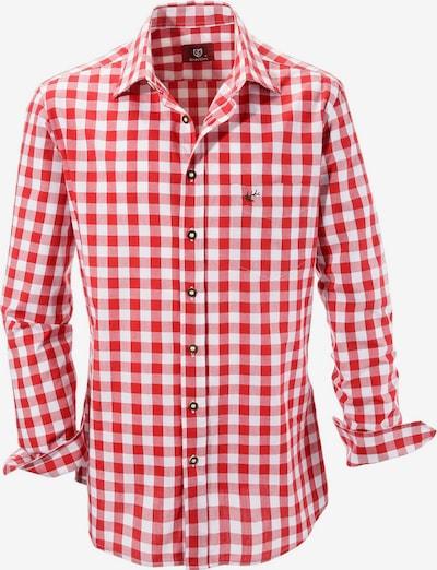 OS-TRACHTEN Kariertes Trachtenhemd in rot / weiß, Produktansicht
