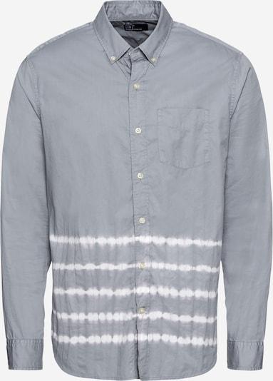 GAP Hemd 'DIP DYE POPLIN' in grau / weiß, Produktansicht
