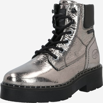 Dockers by Gerli Lace-Up Ankle Boots in Silver