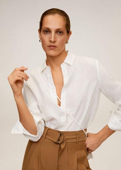 MANGO Bluse in weiß, Modelansicht