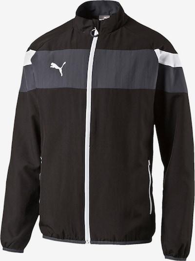 PUMA Trainingsjacke 'Spirit II' in schwarz / weiß, Produktansicht