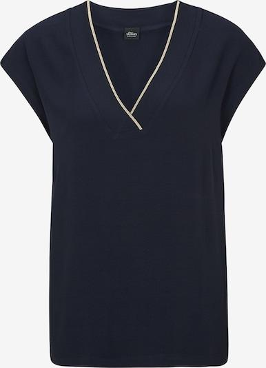 s.Oliver BLACK LABEL Shirt in nachtblau / weiß, Produktansicht