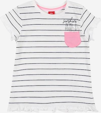 s.Oliver T-Shirt in pink / schwarz / weiß, Produktansicht