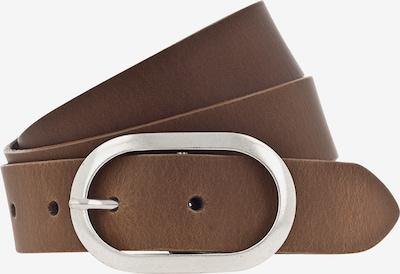 VANZETTI Ceinture 'Oval 3cm' en cognac, Vue avec produit