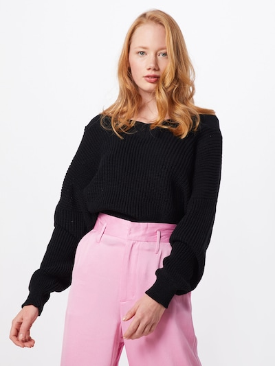 GLAMOROUS Pullover in schwarz, Modelansicht