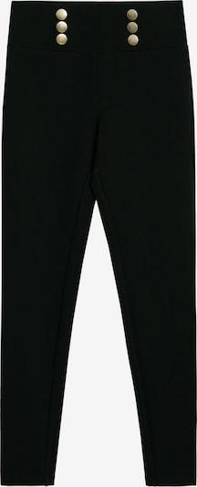 MANGO Legginsy 'PUNTABOT-N' w kolorze czarnym: Widok z przodu