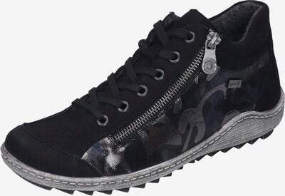 REMONTE Schnürschuh in taubenblau / schwarz / silber, Produktansicht