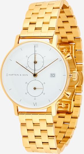 Kapten & Son Uhr in gold / weiß, Produktansicht