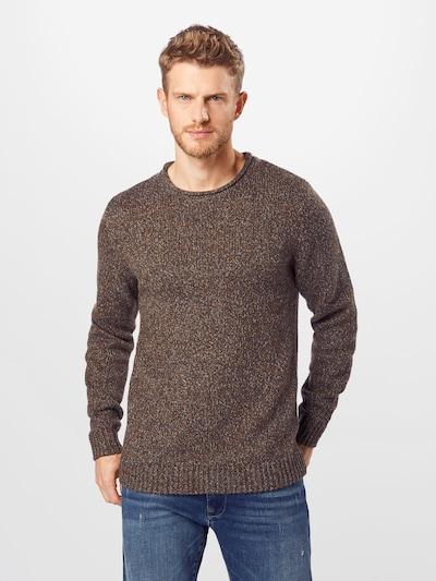 ESPRIT Sweter w kolorze nakrapiany brązowym: Widok z przodu