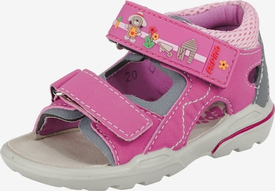 Pepino Sandale 'Tim' in grau / pink / rosa, Produktansicht