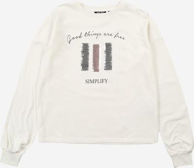 BLUE SEVEN Sweatshirt in grau / pink / schwarz / weiß, Produktansicht